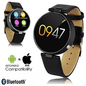 Indigi® Nueva 2017 Premier redondo piel Smartwatch ...