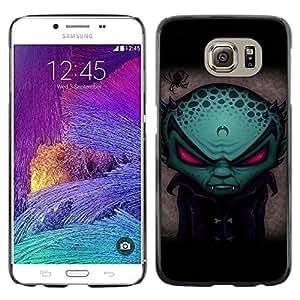 Smartphone Rígido Protección única Imagen Carcasa Funda Tapa Skin Case Para Samsung Galaxy S6 SM-G920 Funny Evil Alien Vampire / STRONG
