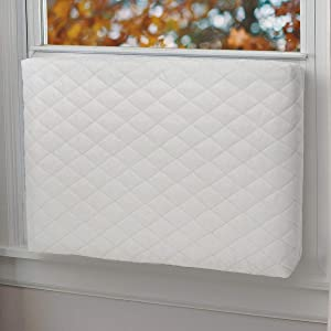 Foozet Indoor Air Conditioner Cover Double Insulation, XS Beige