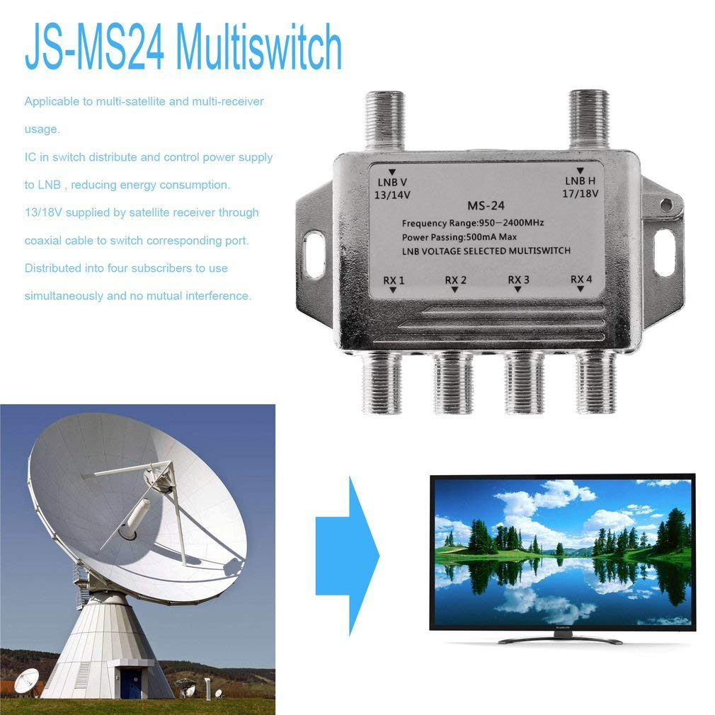 Amazon.com: Mini Portable 2x4 JS-MS24 Satellite Signal ...
