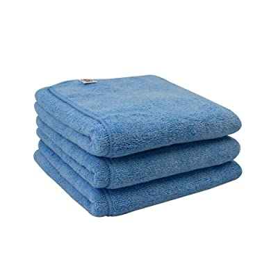 Chemical Guys MIC36303 Workhorse XL Blue Professional Grade Microfiber Towel, Windows (24 in. x 16 in.) (Pack of 3): Automotive