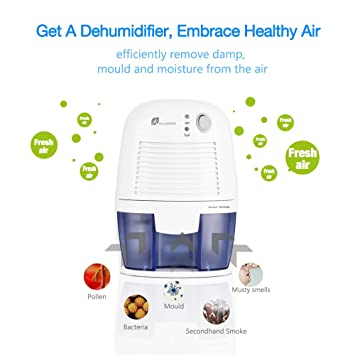 Amazon.com   Electric Dehumidifier, Portable Air Dehumidifier 1200 Cubic  Feet (150 Sq Ft), Compact And Portable Dehumidifier For Home, Kitchen,  Bedroom, ...