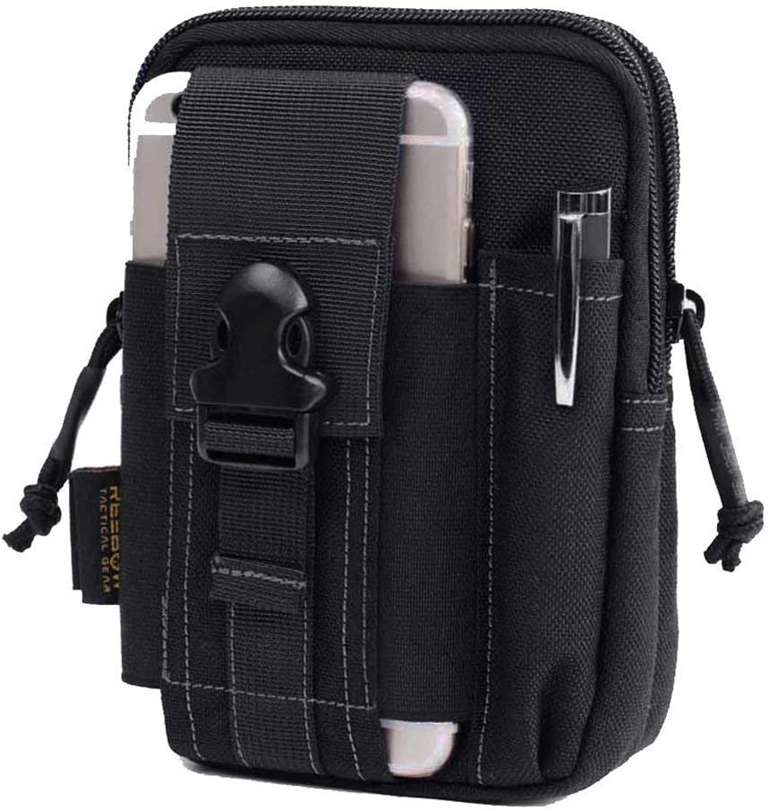 Reebow Gear Tactical Molle EDC Utility Pouch Gadget Belt Waist Bag with Cell Phone Holster Holder