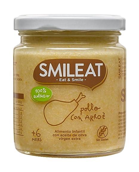 Smileat Tarrito de Pollo con Arroz Ecológico - 230 gr