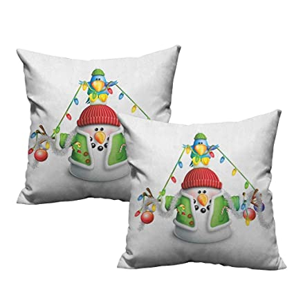 Amazon Com Warmfamily Fashion Pillowcase Snowman Cartoon Whimsical