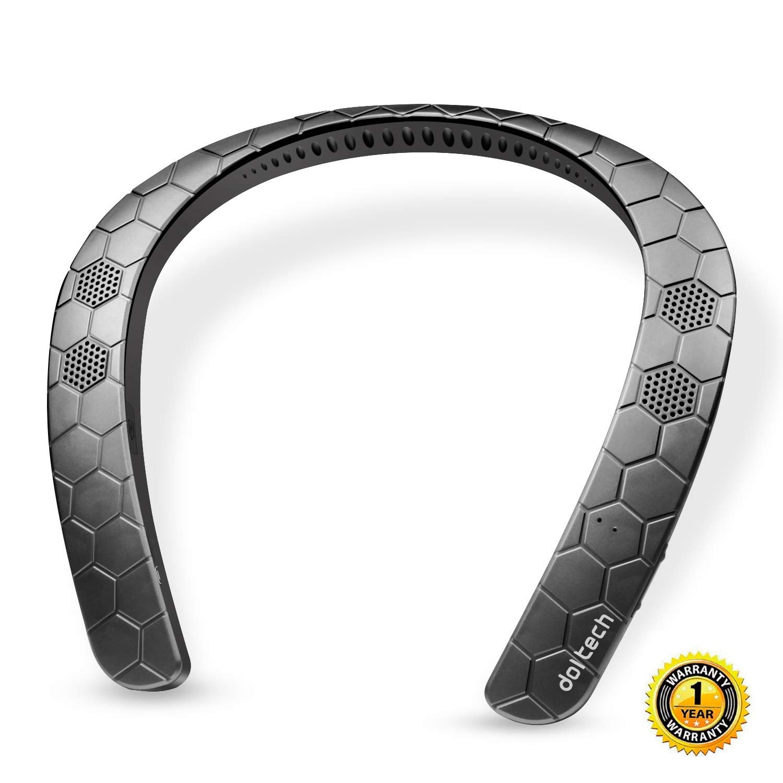 Wearable Bluetoothスピーカー ドルテック ネックバンド ワイヤレススピーカー マイク付き パーソナルスピーカー シアター 3Dサウンド ハンズフリー通話。 DT 929 B07JH1HXJJ ブラック