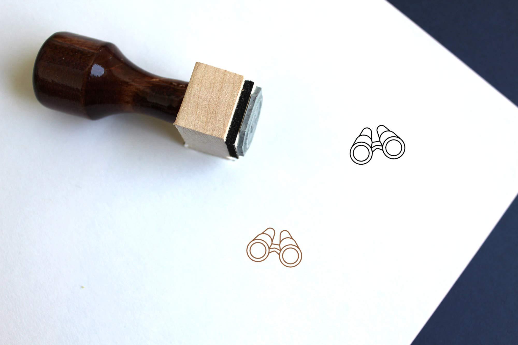Binoculars Rubber Stamp (3'' x 3'')