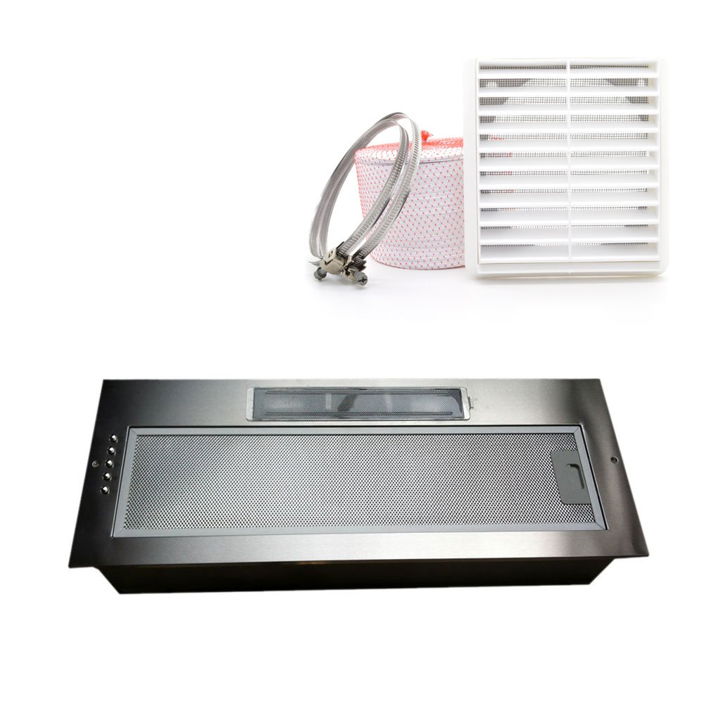 Universal 750MM 75CM Kitchen Canopy Cooker Hood Fan Extractor Built Under Twin Motor come with 120mm ducting kit