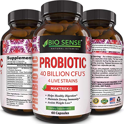 Probiotics Supplement Natural Probiotic Acidophilus, Bifidobacteria, Lactobacillus Plantarum and Lactobacillus Paracasei, Protect Against Diarrhea and Boost Immune System for Women and Men