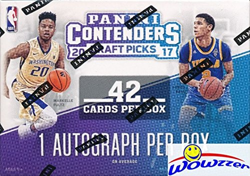 2017/18 Panini Contenders Draft Picks Basketball Factory Sealed Retail Box with AUTOGRAPH! Look for Rookies & Autographs of Lonzo Ball, Markell Fultz, De'Aaron Fox, Jayson Tatum & Many More! WOWZZER! (Nba Basketball Tickets)