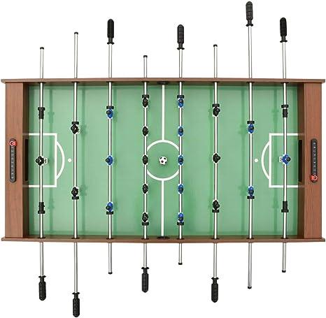 vidaXL Futbolín Plegable Juego Interior Simulación Deportes Diversión Casa Hogar Pub Local Sala Juegos Entretenimiento Robusto Marrón 121x61x80cm: Amazon.es: Deportes y aire libre