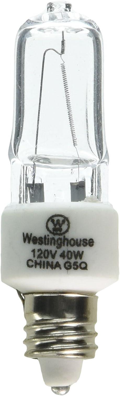 Westinghouse Lighting 0625700, 40 Watt, 120 Volt Clear Incand T3 Light Bulb, 2000 Hour 560 Lumen