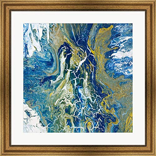 Tropical Storm I by Roberto Gonzalez Framed Art Print Wall Picture, Wide Gold Frame, 28 x 28 inches ()