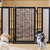 Baby & Pet Gate featuring the Chevron Trail Design from Fusion Gates (Satin Nickel, 52'' - 60'')