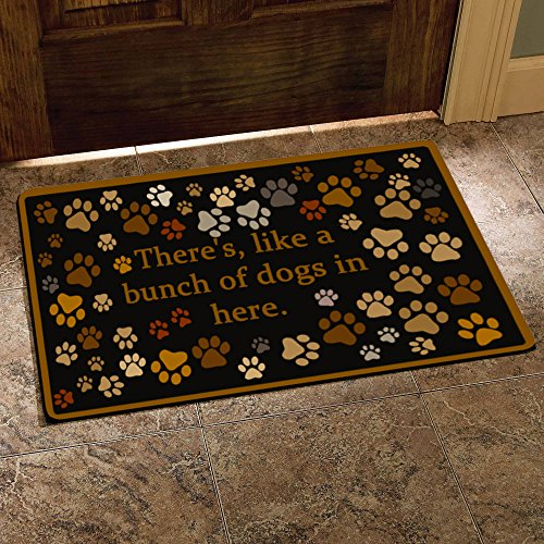 There S Like A Bunch Of Dogs In Here Funny Design Indoor