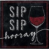 192-Count Beverage Paper Napkin, Sip Sip Hooray