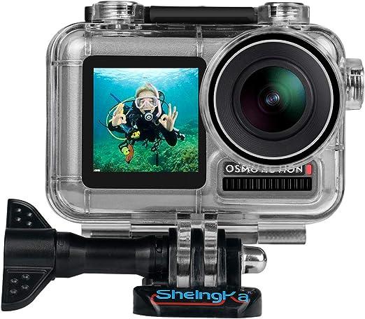 Funda de buceo impermeable para cámara de acción DJ Osmo, carcasa impermeable de repuesto para DJI Osmo Acción, 45 m de fotografía subacuática, kit de ...