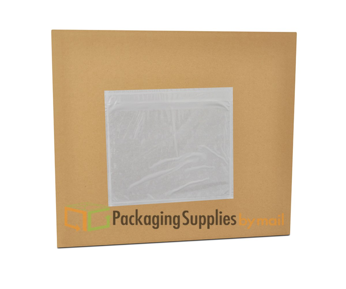 Clear Packing List Enclosed Envelope Plain Face Back Load 2.0 Mil Thick - 7'' X 10'' 1000 / Case
