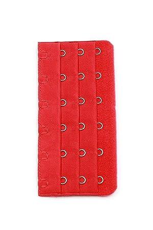 gqmart - Alargador de sujetador rojo 3 x 6 posiciones ganchos cinta ropa interior sujetador extensor 3 pcs: Amazon.es: Deportes y aire libre