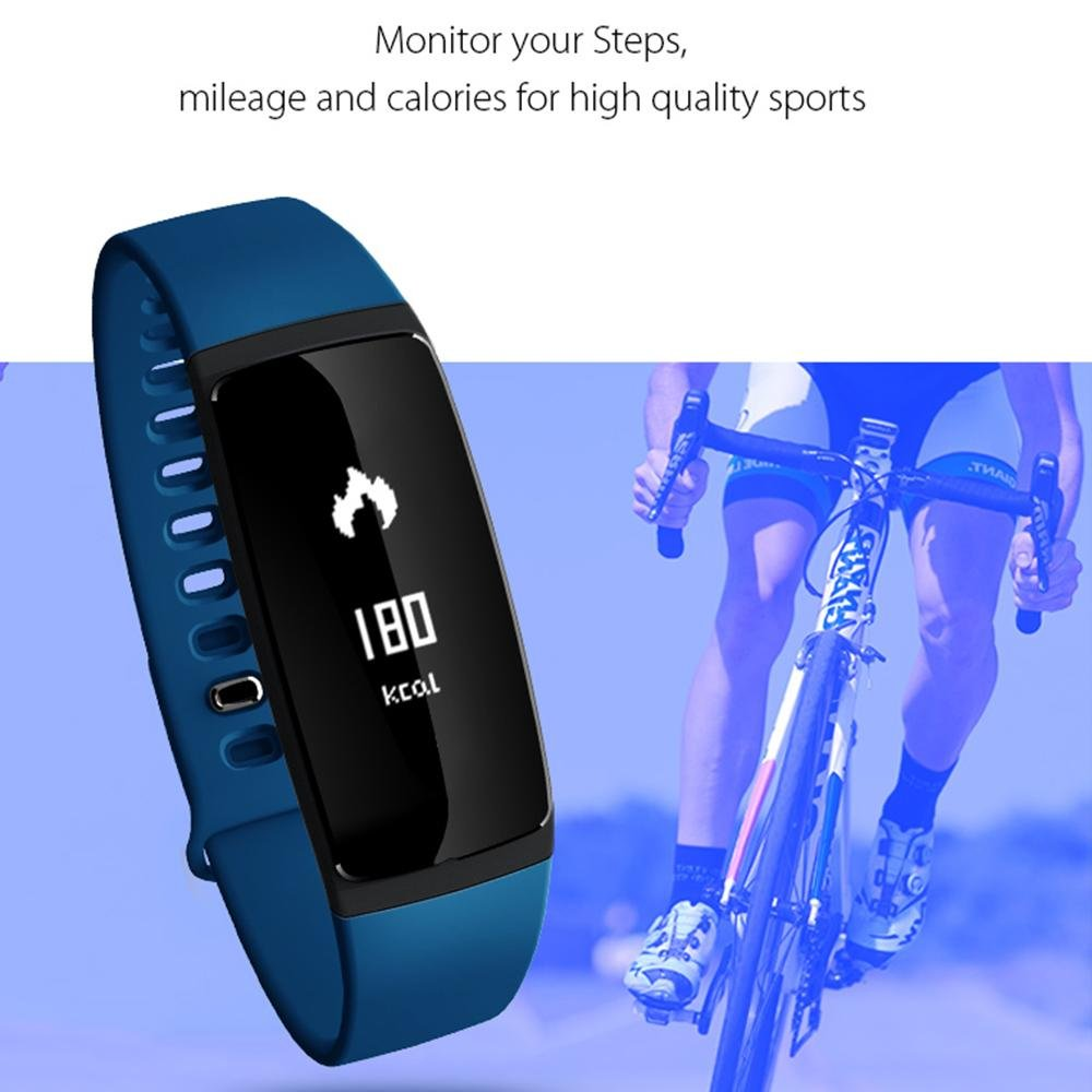 ... Heart Rate Monitor with Pedometer Blood Pressure Wirless Activity Tracker Smart Wristband Bracelet Watch for Andriod and IOS: Health & Personal Care