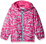 Image of Columbia Boys' Toddler Girls' Mini Pixel Grabber II Wind Jacket, Wild Geranium Camo, 3T