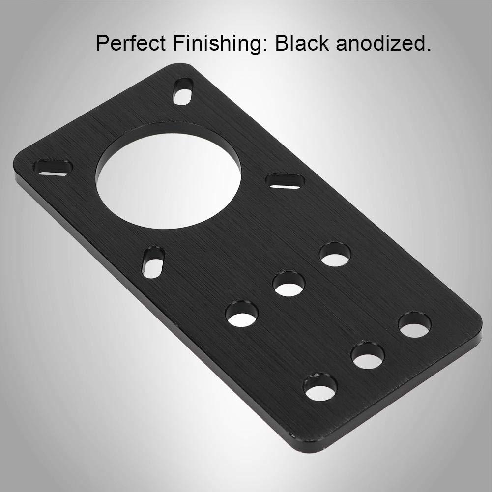 Conveniente de Usar Oumij NEMA 17 Anodizado Aluminio Motor Paso a Paso Montaje en Placa de aplicaci/ón Amplia Accesorios para impresoras 3D Negro