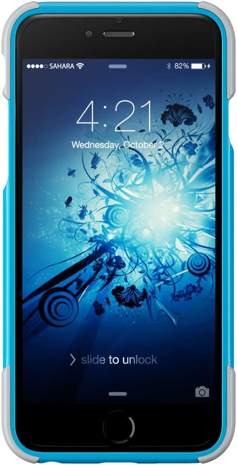 120 Mix-Match Color Combinations 3-Layer Protective Design iPhone 6 Case iPhone 6s Case Blue Silver SaharaCase X-Case Protection Kit withBonus ZeroDamage Tempered Glass Screen Protector