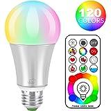 iLC LED Ampoules de couleur Edison Changement de Couleur Ampoule RGB+Blanc Dimmable - 120 Choix de Couleur - 10Watt E27 Types RGBW LED Ampoules - 2 Modes Dynamiques - Télécommande Compris