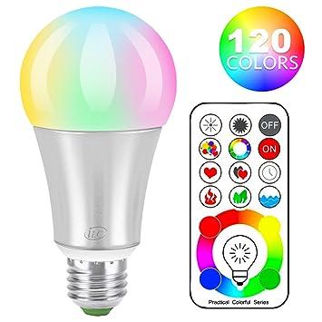 iLC LED Farbige Leuchtmittel RGB+Weiß Lampe Edison Dimmbare Farbige ...