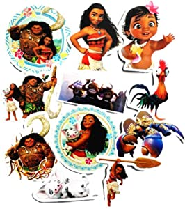 Cartoon Movie Themed Moana 11 Piece Sticker Decal Set for Kids Adults - Laptop Motorcycle Skateboard Decals