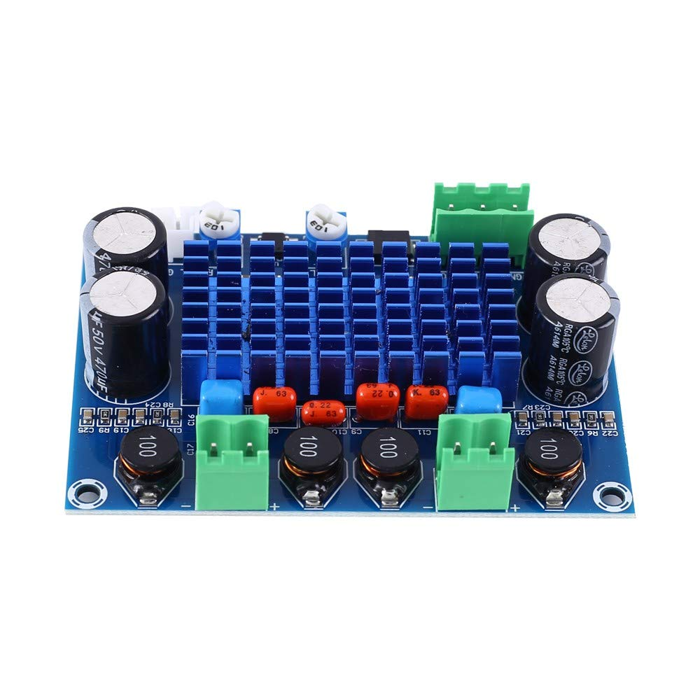 Digital Power Amplifier Board XH-M572 Amplifier Module DC 9V 12V 24V 120W+120W Dual Channel Stereo Output Amplifiers for DIY Projects