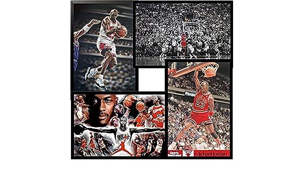 8de0e07b91ce2b Amazon.com  Buyartforless Framed Michael Jordan 4 Pack Set 36x24 Art Print  Posters Superstar Legend  Home   Kitchen