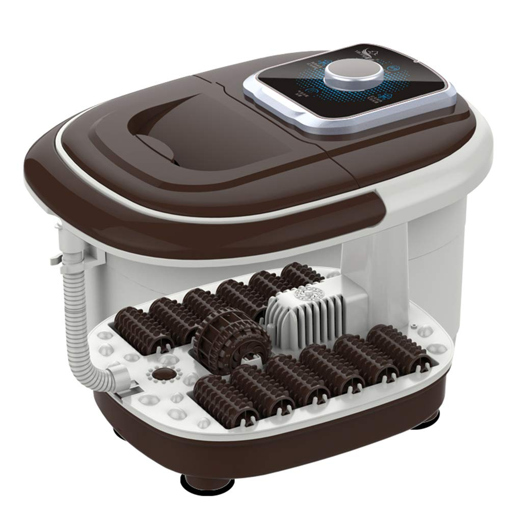 足浴マッサージ機メカニカルバージョン暖房足温泉機起動する1つのボタンスマートマッサージローラー圧を軽減する疲労,Orange B07Q79Z4MF Coffee  Coffee