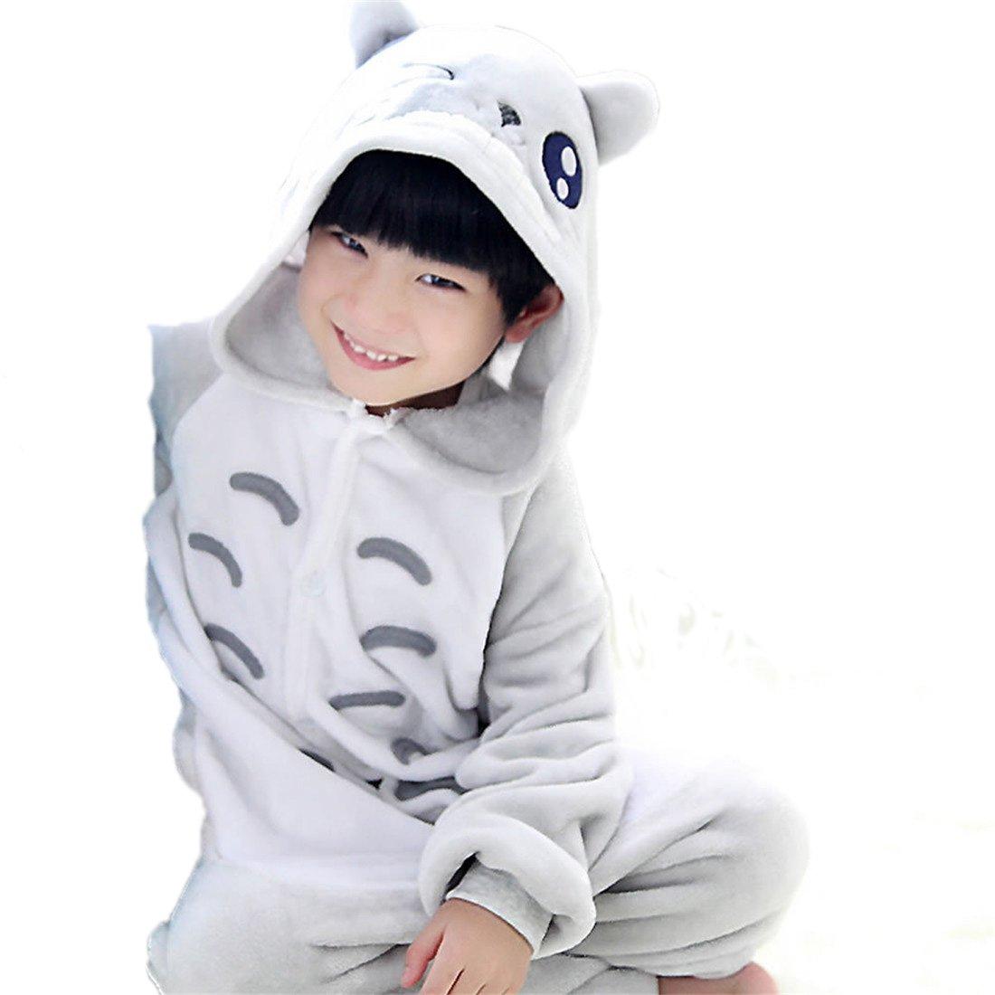 Silver Moonlight Halloween Pajamas Homewear Onepiece Onesie Cosplay Costumes Kigurumi Animal Outfit Loungewear (S, Totoro)
