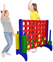 Giant 4 in a Row Connect Game – 4 Feet Wide by 3.5 Feet Tall Oversized Floor Activity for Kids and Adults – Jumbo Sized for