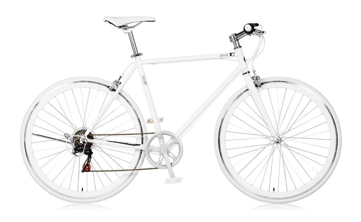 【a.n.design works】(エーエヌデザインワークス) Laugh537 ラフ メリーホワイト 700c 165cm~ B01MQTQK9O
