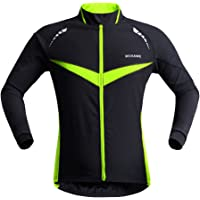 MagiDeal Cycling Jacket Windproof Breathable Lightweight Warm Thermal Clothing Waterproof MTB Mountain Road Bike Jacket Reflective