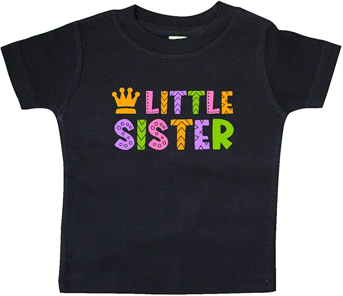 inktastic Baby Little Sister with Crown Baby T-Shirt