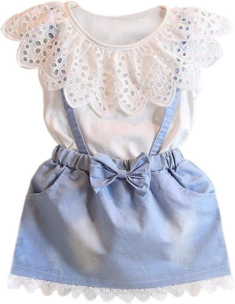 Ropa niña de Verano Vestido de Princesa de bebé Niñas Vestido de ...