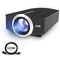 Video Projecteur Portable, Artlii Retroprojecteur Mini LED, Supporte le 1080p, Compatible iPhone / Smartphone / PC / Xbox /PS4 pour Jeux Vidéos et Films