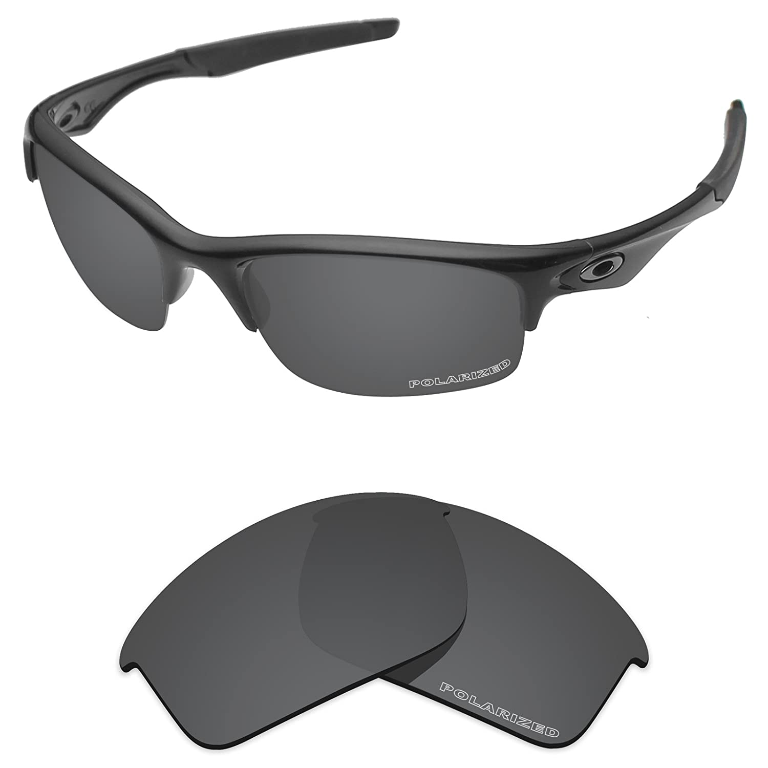 9064c2f233 Amazon.com  Tintart Performance Lenses Compatible with Oakley Bottle Rocket  Polarized Etched-Carbon Black  Clothing