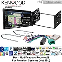 Volunteer Audio Kenwood DNX574S Double Din Radio Install Kit with GPS Navigation Apple CarPlay Android Auto Fits 1995-1997 Ford Explorer, Ford Ranger, Lincoln Town Car