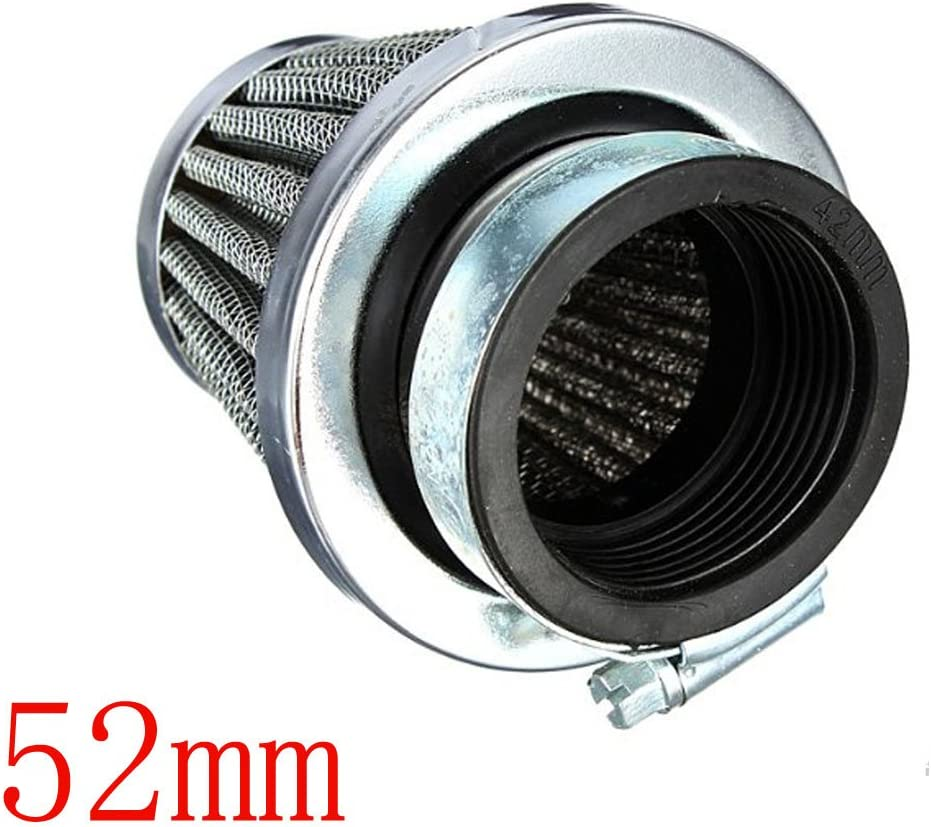 Mintice 4 X 60mm KFZ Auto Silber Motorrad Air Pod Intake Luftfilter Clamp Gummi Sportluftfilter Schwarz Dirt ATV