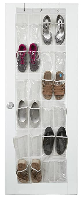 Vinyl Over The Door Shoe Organizer With 24 Reinforced Pockets. Organize Your  Shoes With This