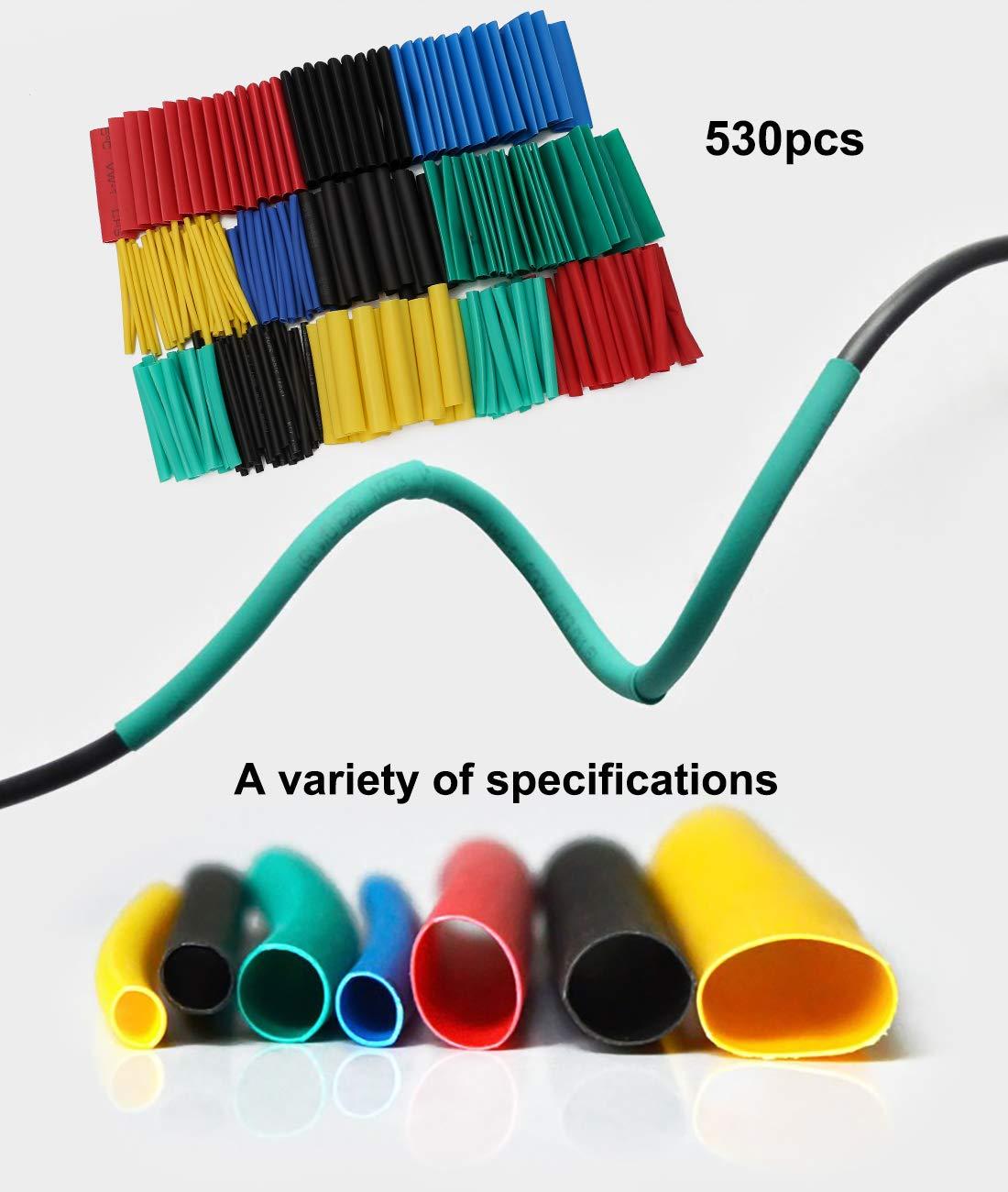 Lot de 530 gaines thermor/étractables pour isolation /électrique