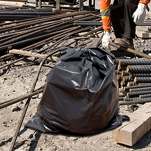 60 Gallon Extra Large Contractor Trash Bags 3 Mil, Durable Heavy Duty, Made in USA, Tough Garbage Bags for Cleanups Drum Liner 3mil (25)-41x55 by Ox Plastics (Image #4)