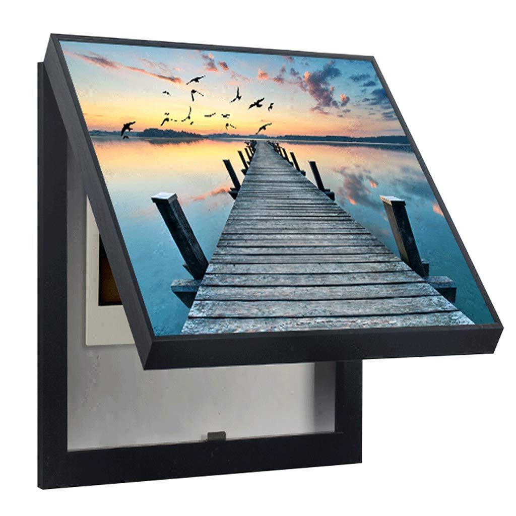 LIUDONGXIN Electric Meter Box Decorative Painting Modern Minimalist Electric Box Push-Pull Switch Painting (Color : Pink, Size : (4050cm 3040cm)) by LIUDONGXIN