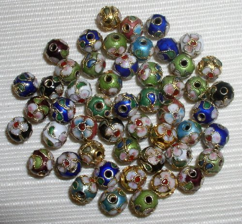 8mm Cloisonne Beads - 5