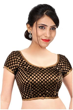 ae9855e1a4852c SINGAAR Readymade Blouse Design -Golden Black Brocade - Party Wear -Back  Design -100