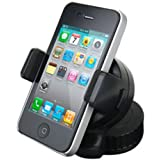 UNISUCTION UNIVERSAL 360 IN-CAR WINDSCREEN SUCTION HOLDER MOUNT FOR APPLE IPHONE 5 / 5G LTE - PART OF THE GIZMO ACCESSORIES RANGE